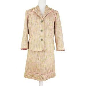 Sigrid Olsen 2 Piece Tweed Skirt Suit